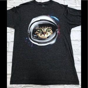 Hybrid Unisex Space Cat Tee Size Medium